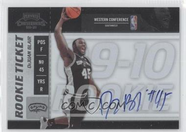 2009-10 Playoff Contenders - [Base] #132 - Rookie Ticket - DeJuan Blair
