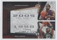 Paul Pierce, Andrew Bynum /50