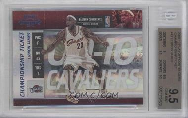 2009-10 Playoff Contenders Championship Ticket #43 - Lebron James /1 [BGS 9.5]