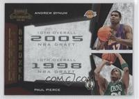 Andrew Bynum, Paul Pierce /100
