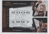 Andrea Bargnani, Tim Duncan /100