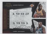 James Worthy, Larry Johnson /100