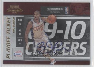 2009-10 Playoff Contenders Playoff Ticket Autographs [Autographed] #81 - Eric Gordon /10