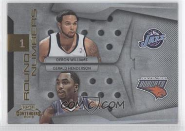 2009-10 Playoff Contenders Round Numbers Gold #21 - Deron Williams, Gerald Henderson /100