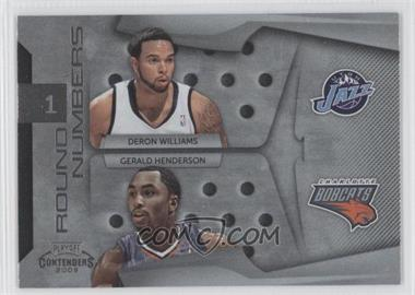 2009-10 Playoff Contenders Round Numbers #21 - Gerald Henderson, Deron Williams