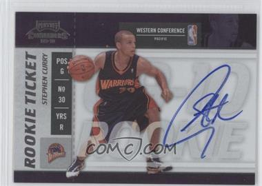 2009-10 Playoff Contenders #106 - Rookie Ticket - Stephen Curry