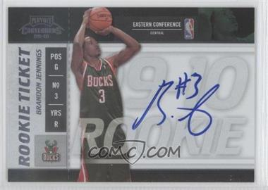 2009-10 Playoff Contenders #108 - Rookie Ticket - Brandon Jennings