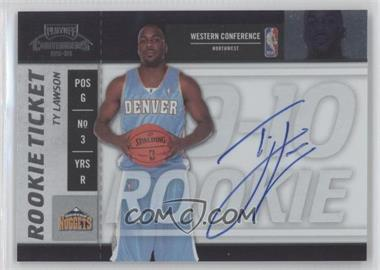 2009-10 Playoff Contenders #116 - Rookie Ticket - Ty Lawson