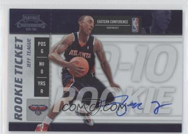 2009-10 Playoff Contenders #117 - Rookie Ticket - Jeff Teague