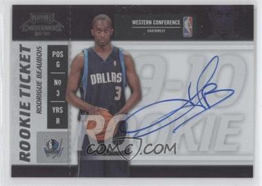 2009-10 Playoff Contenders #122 - Rookie Ticket - Rodrigue Beaubois