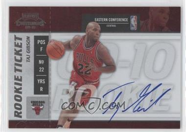 2009-10 Playoff Contenders #123 - Rookie Ticket - Taj Gibson