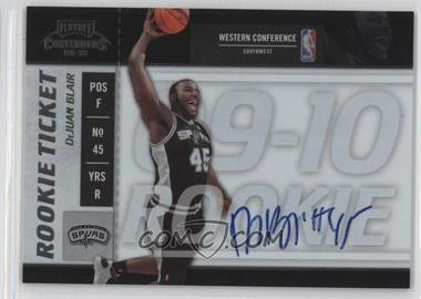 2009-10 Playoff Contenders #132 - Rookie Ticket - DeJuan Blair