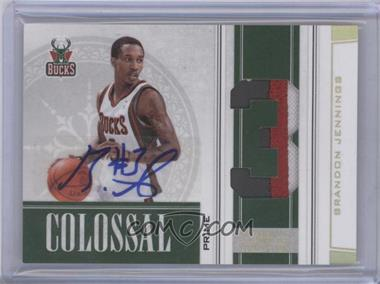2009-10 Playoff National Treasures - Colossal - Die-Cut Jersey Number Prime Signatures [Autographed] #14 - Brandon Jennings /25