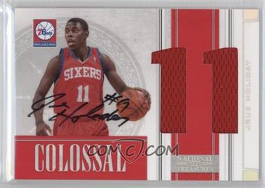 2009-10 Playoff National Treasures - Colossal - Die-Cut Jersey Number Signatures [Autographed] #32 - Jrue Holiday /49