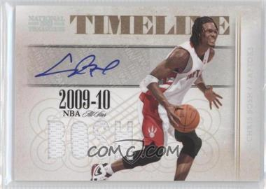 2009-10 Playoff National Treasures - Timeline Materials - Die-Cut Custom Names Signatures [Autographed] #18 - Chris Bosh /25