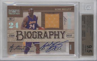 2009-10 Playoff National Treasures Biography Materials Autographs #1 - Kobe Bryant /25 [BGS 9.5]