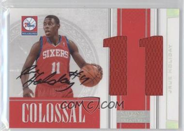 2009-10 Playoff National Treasures Colossal Jersey Number Signatures #32 - Jrue Holiday /49