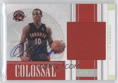 2009-10 Playoff National Treasures Colossal Signatures [Autographed] #12 - DeMar DeRozan /49