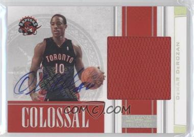 2009-10 Playoff National Treasures Colossal Signatures #12 - DeMar DeRozan /49