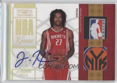 2009-10 Playoff National Treasures NBA Gear Combos Laundry Tag Signatures #30 - Jordan Hill /5