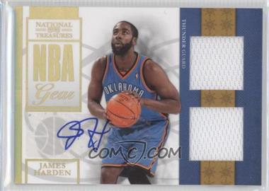 2009-10 Playoff National Treasures NBA Gear Combos Signatures [Autographed] #5 - James Harden /30