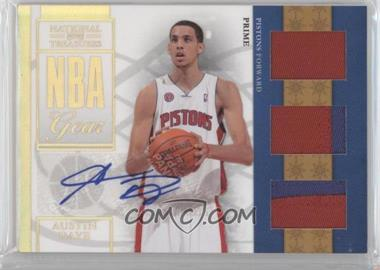 2009-10 Playoff National Treasures NBA Gear Trios Prime Signatures [Autographed] #22 - Austin Daye /49