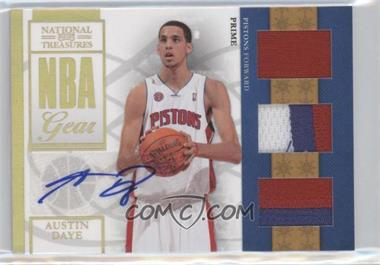 2009-10 Playoff National Treasures NBA Gear Trios Prime Signatures #22 - Austin Daye /49