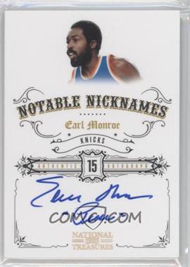 2009-10 Playoff National Treasures Notable Nicknames #NN-EM - Earl Monroe /99