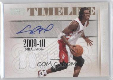 2009-10 Playoff National Treasures Timeline Signature Materials Custom Names #18 - Chris Bosh /25