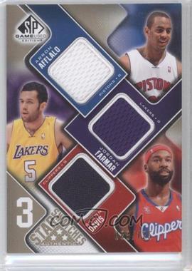 2009-10 SP Game Used - 3 Star Swatches - Level 1 #3S-DFA - Arron Afflalo, Jordan Farmar, Baron Davis /125