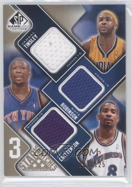 2009-10 SP Game Used - 3 Star Swatches - Level 1 #3S-TRC - Jamaal Tinsley, Nate Robinson, Jamal Crawford /125