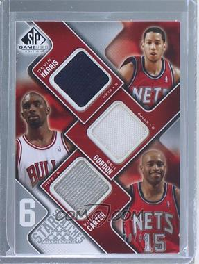 2009-10 SP Game Used - 6 Star Swatches #HGCANH - Devin Harris, Ben Gordon, Vince Carter, Gilbert Arenas, Dirk Nowitzki, Richard Hamilton /99