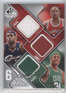 2009-10 SP Game Used - 6 Star Swatches #RJPMJN - Michael Redd, Lebron James, Paul Pierce, O.J. Mayo, Richard Jefferson, Dirk Nowitzki /99