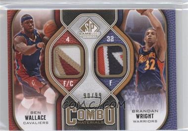2009-10 SP Game Used - Combo Materials - Patch #CP-BW - Ben Wallace, Brandan Wright /99