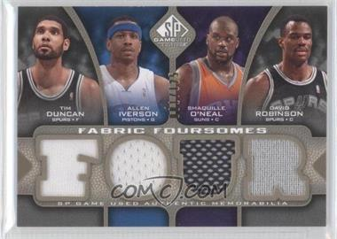 2009-10 SP Game Used - Fabric Foursomes - Level 1 #F4-DIOR - Tim Duncan, Allen Iverson, Shaquille O'Neal, David Robinson /125