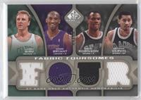 Larry Bird, Kobe Bryant, David Robinson, George Gervin /50
