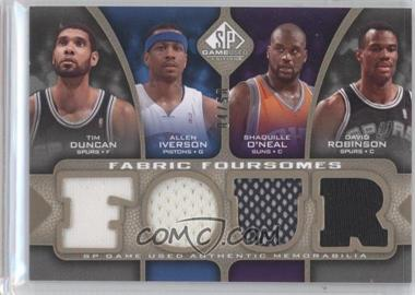 2009-10 SP Game Used - Fabric Foursomes - Level 2 #F4-DIOR - Tim Duncan, Allen Iverson, Shaquille O'Neal, David Robinson /50