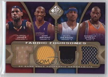 2009-10 SP Game Used - Fabric Foursomes - Level 3 #F4-BIJO - Lebron James, Kobe Bryant, Allen Iverson, Shaquille O'Neal /35
