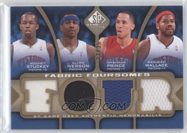 2009-10 SP Game Used - Fabric Foursomes - Level 3 #F4-IWPS - Rodney Stuckey, Allen Iverson, Tayshaun Prince, Rasheed Wallace /35