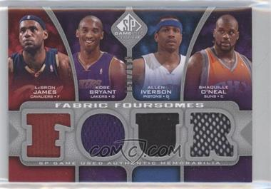 2009-10 SP Game Used - Fabric Foursomes #F4-BIJO - Lebron James, Kobe Bryant, Allen Iverson, Shaquille O'Neal /199