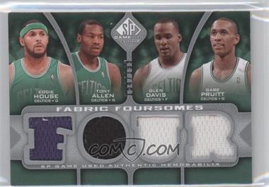 2009-10 SP Game Used - Fabric Foursomes #F4-HAPD - Eddie House, Tony Allen, Glen Davis, Gabe Pruitt /199
