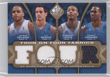2009-10 SP Game Used - Four on Four Fabrics - Level 1 #FF-NRLHJYMB - Jameer Nelson, J.J. Redick, Rashard Lewis, Dwight Howard, Mike James, Nick Young, Dominic McGuire, Andray Blatche /65