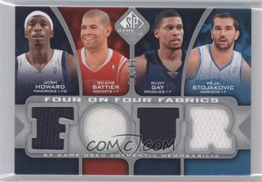 2009-10 SP Game Used - Four on Four Fabrics #HBGSFADH - Josh Howard, Rudy Gay, Peja Stojakovic, Michael Finley, Carmelo Anthony, Kevin Durant, Grant Hill, Shane Battier /99