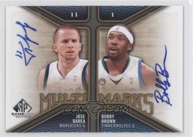 2009-10 SP Game Used - Multi Marks Dual Autographs - [Autographed] #MD-BJ - J.J. Barea, Bobby Brown