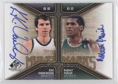 2009-10 SP Game Used - Multi Marks Dual Autographs - [Autographed] #MD-VP - Kiki Vandeweghe, Robert Parish