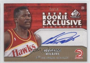 2009-10 SP Game Used - Retro Rookie Exclusive Signatures - [Autographed] #RR-DW - Dominique Wilkins /50