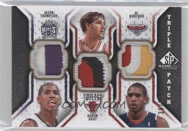 2009-10 SP Game Used - Triple Patch #TP-GHT - Jason Thompson, Aaron Gray, Al Horford /60