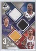 Beno Udrih, Shelden Williams, Brad Miller /125