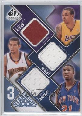 2009-10 SP Game Used 3 Star Swatches Level 2 #3S-BWC - Shannon Brown, Brandan Wright, Wilson Chandler /50