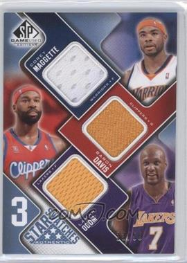 2009-10 SP Game Used 3 Star Swatches Level 2 #3S-MDO - Corey Maggette, Baron Davis, Lamar Odom /50